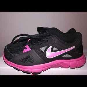 Girls Black & Pink Nike Sneakers